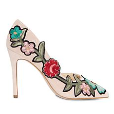 Jessica Simpson Pristina Suede Embroidered D'Orsay Pump