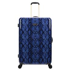 Jessica Simpson Python-Embossed 29-inch Hardside Spinner in Denim