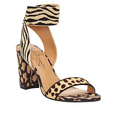 Jessica Simpson Siesto Leather Block Heel Sandal