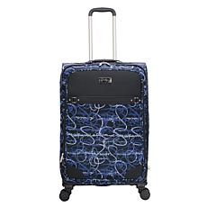 Jessica Simpson Signature Jacquard 25-inch Softside Spinner in Blue