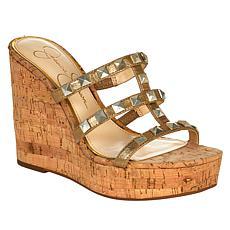 Jessica Simpson Sourie Studded Cork Wedge Sandal