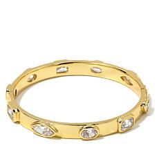 Jewels by Jen Pavé CZ Pyramid Stud Bangle Bracelet