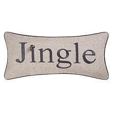Jingle Embroidered Pillow