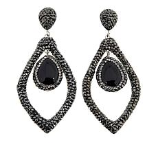 JK NY Agate Open Space Teardrop Earrings