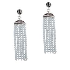 JK NY Faceted Bead Tassel Drop Earrings
