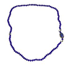 "JK NY Oval Station Colored Bead 34"" Necklace"