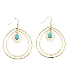 "Jo + le ""Pacific Pleasure"" Turquoise-Color   Earrings"