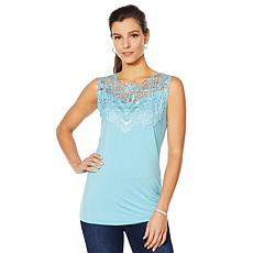 Joan Boyce 2-pack V-Neck Lace Tank Top