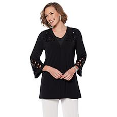 Joan Boyce Black Sequin Knit Topper