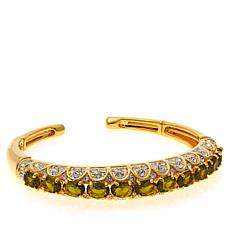 Joan Boyce Colored Oval Stone Cuff Bracelet