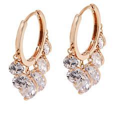 Joan Boyce Cubic Zirconia Dangle Hoop Earrings