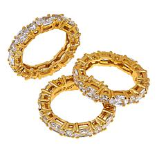 "Joan Boyce Cyndy's ""Hugs and Kisses"" 3-piece Clear Ring Set"