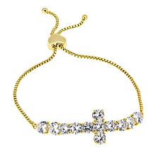 "Joan Boyce Jillian's ""Have a Little Faith"" Cross Adjustable Bracelet"