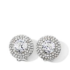 "Joan Boyce ""Joan's Own"" Round Pavé Stud Earrings"