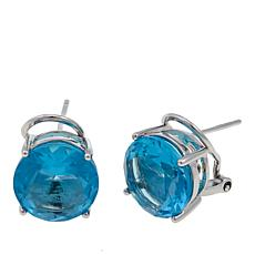 "Joan Boyce ""Joan's Studs"" 12ctw CZ Round Colored Earrings"