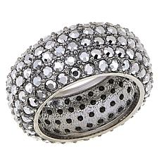"Joan Boyce ""Live and Love Together"" Metallic Crystal Pavé Band Ring"