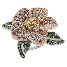 Joan Boyce Multi-Color Crystal Pavé Flower Ring