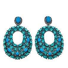 "Joan Boyce ""Taylor's Rock Island"" Simulated Turquoise Drop Earrings"