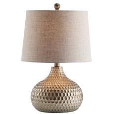 "JONATHAN Y Antique Brown Bates 22"" Honeycomb LED Table Lamp"
