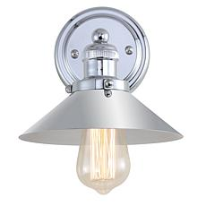 "JONATHAN Y Chrome June 7.75"" Metal Shade Sconce"