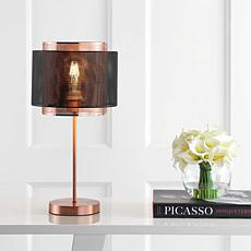 "JONATHAN Y Copper Black Tribeca 19.7"" Metal LED Table Lamp"
