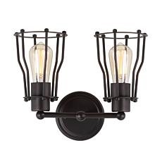 "JONATHAN Y Oil Rubbed Bronze Florence 12.5"" 2-light Metal Vanity Light"