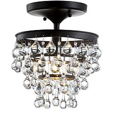 "JONATHAN Y Oil Rubbed Bronze Toronto 10"" Metal Crystal Chandelier"