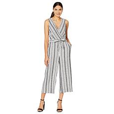 Jones New York Linen-Blend Cropped Pant Jumpsuit - Plus