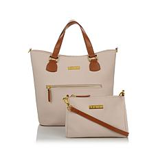 JOY & IMAN Alexandria Leather Tote and Crossbody