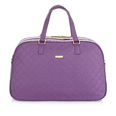 JOY & IMAN Diamond Quilted Couture Nylon Weekender with RFID