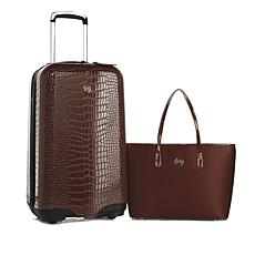 JOY E*Lite Croco-Embossed Hardside Luggage with RFID Handbag