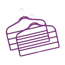 JOY Huggable Hangers® 4-Bar Hanger 2-pack - Chrome