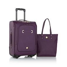 JOY Leather Luggage Ensemble with Spinball™ Wheels