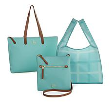 JOY Luxe Genuine Leather Handbag, Chic Crossbody with Shopper Tote