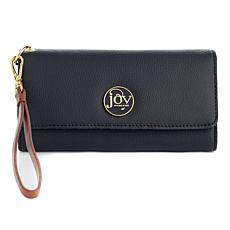 JOY Luxe Genuine Leather Trifold Wallet with RFID Protection