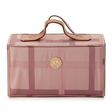JOY Luxe Plaid Nylon & Leather Large Better Beauty Case