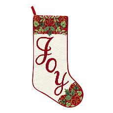 Joy Needlepoint  Stocking
