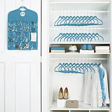 JOY Space-Saving Huggable Hangers® Buy 24, Get 12 & Organizer - Chrome