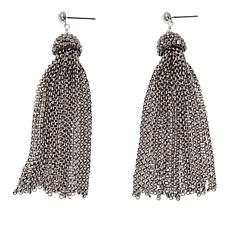 Joyce Willams Crystal Tassel Drop Earrings