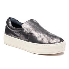 J/Slides NYC Harry Snake-Embossed Leather Slip-On Sneaker