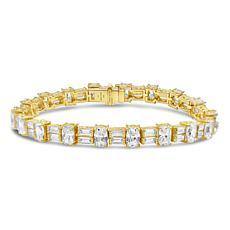 Judith Ripka 14K Gold-Clad Sterling Silver Diamonique® Tennis Bracelet