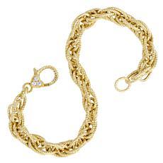 Judith Ripka 14K Gold-Clad Verona Textured Rope Bracelet