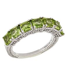 Judith Ripka 2.36ctw Peridot and Diamonique® Band Ring