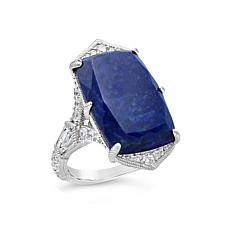 Judith Ripka Diamonique® and Lapis Cocktail Ring