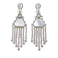 Judith Ripka Mother-of-Pearl and Diamonique® Drop Earrings