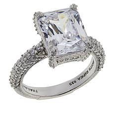 Judith Ripka Sterling Silver Diamonique® Rectangular Engagement Ring