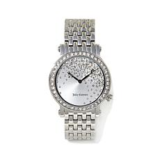 Juicy Couture Crystal Dial and Bezel Silvertone Watch