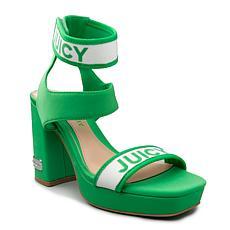 Juicy Couture Glisten Stretch Heeled Platform Sandal