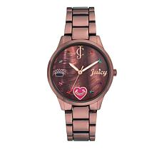 Juicy Couture Metallic Brown Women's Brown Dial Bracelet Watch