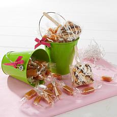 JulieAnn Caramels Set of 2 Green Easter Pails